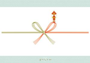 紅白蝶結び(7本)