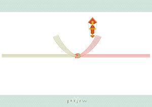 紅白結び切り(5本・のしあわびなし)